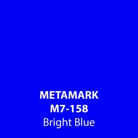Bright Blue Gloss Vinyl M7-158, Metamark 7 Series, self-adhesive, sticky back polymeric sign making vinyl