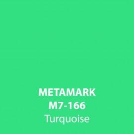 Turquoise Gloss Vinyl M7-166, Metamark 7 Series, self-adhesive, sticky back polymeric sign making vinyl