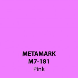 Pink Gloss Vinyl M7-181, Metamark 7 Series, self-adhesive, sticky back polymeric sign making vinyl