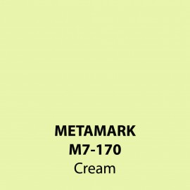 Cream Gloss Vinyl M7-170, Metamark 7 Series, self-adhesive, sticky back polymeric sign making vinyl