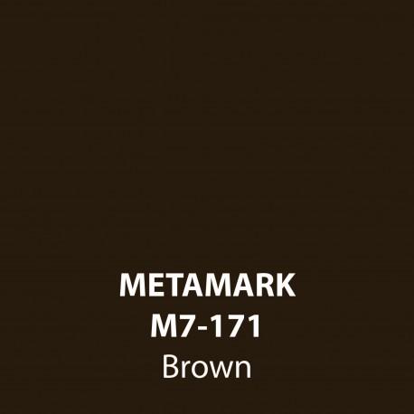 Brown Gloss Vinyl M7-171, Metamark 7 Series, self-adhesive, sticky back polymeric sign making vinyl