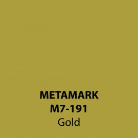 Gold Gloss Vinyl M7-191, Metamark 7 Series, self-adhesive, sticky back polymeric sign making vinyl