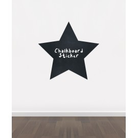 BB5 - Bespoke Star chalkboard sticker, beautiful blackboard vinyl cut sticker, self adhesive easy install