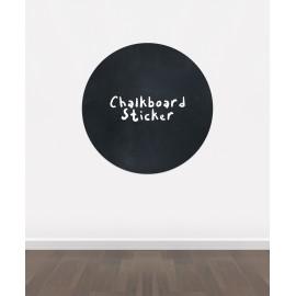 BB6 - Bespoke Circle chalkboard sticker, beautiful blackboard vinyl cut sticker, self adhesive easy install
