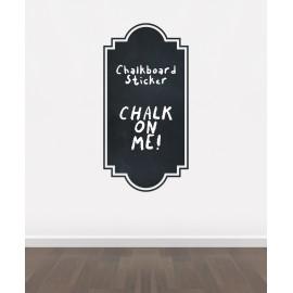 BB8 - Bespoke Frame chalkboard sticker, beautiful blackboard vinyl cut sticker, self adhesive easy install