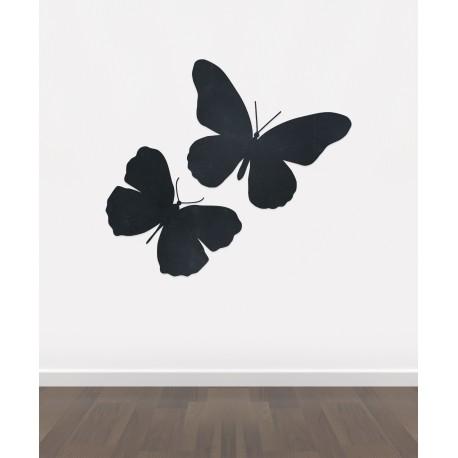 BB9 - Bespoke Butterflies chalkboard sticker, beautiful blackboard vinyl  cut sticker, self adhesive easy install