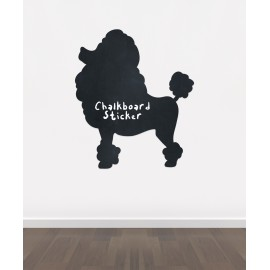 BB12 - Bespoke Dog 2 chalkboard sticker, beautiful blackboard vinyl cut sticker, self adhesive easy install