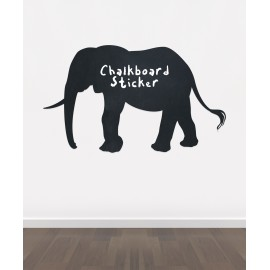 BB14 - Bespoke elephant chalkboard sticker, beautiful blackboard vinyl cut sticker, self adhesive easy install