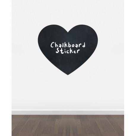 BB15 - Bespoke love heart chalkboard sticker, beautiful blackboard vinyl cut sticker, self adhesive easy install
