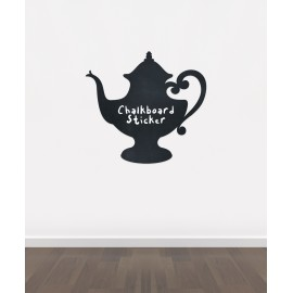BB17 - Bespoke tea pot chalkboard sticker, beautiful blackboard vinyl cut sticker, self adhesive easy install