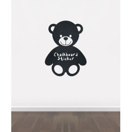 BB18 - Bespoke teddy bear chalkboard sticker, beautiful blackboard vinyl cut sticker, self adhesive easy install
