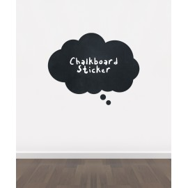 BB19 - Bespoke thought bubble chalkboard sticker, beautiful blackboard vinyl cut sticker, self adhesive easy install