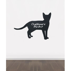 BB22 - Bespoke cat chalkboard sticker, beautiful blackboard vinyl cut sticker, self adhesive easy install