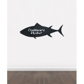 BB23 - Bespoke fish chalkboard sticker, beautiful blackboard vinyl cut sticker, self adhesive easy install