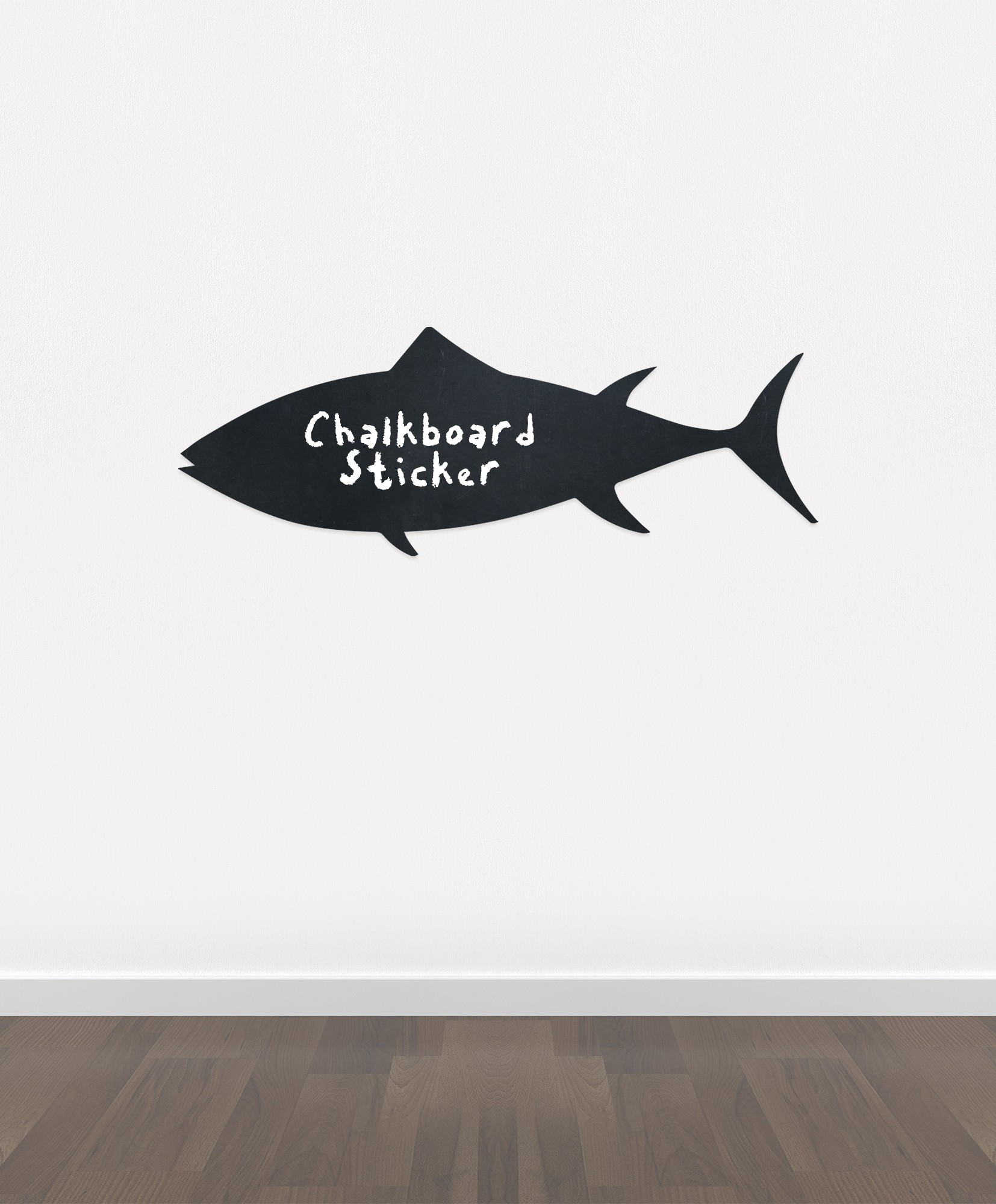 Bb23 bespoke fish chalkboard sticker beautiful blackboard vinyl cut sticker self adhesive easy install jpg