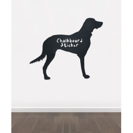 BB26 - Bespoke dog 1 chalkboard sticker, beautiful blackboard vinyl cut sticker, self adhesive easy install