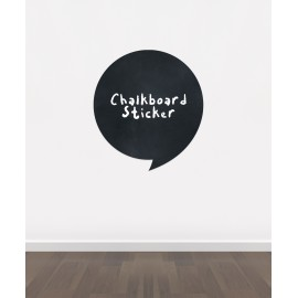 BB27 - Bespoke speech bubble chalkboard sticker, beautiful blackboard vinyl cut sticker, self adhesive easy install