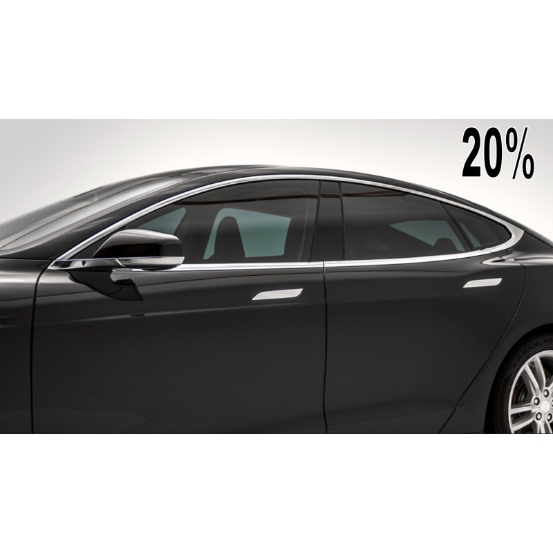Premium 20 limo charcoal dyed polyester car window tint film for Window tint film