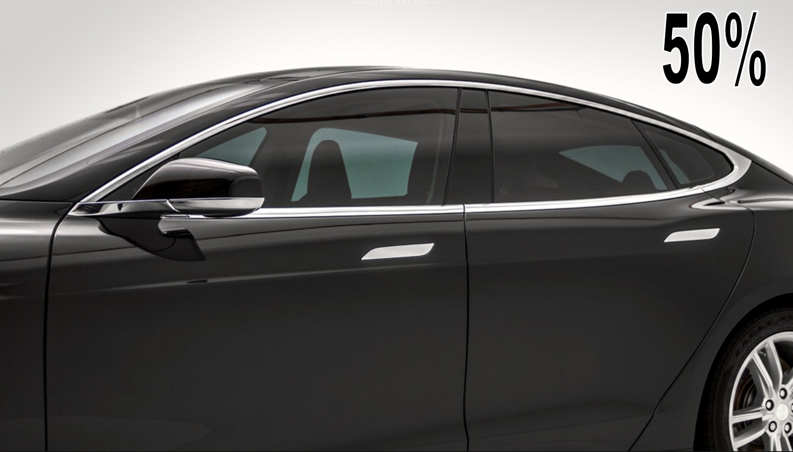 Premium 50 Limo Charcoal Dyed Polyester Car Window Tint Film Kaca Oneway