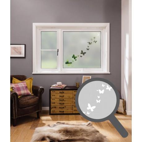 Butterflies cut out, bespoke, custom, frosted animal window film
