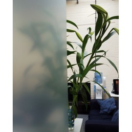 Green Frosted Privacy Window Film / Frost Etched Glass / Sticky Back Plastic / Vinyl Covering / Green Tint / sold per metre.