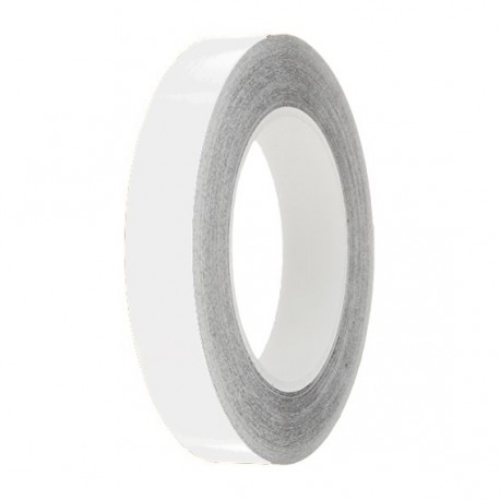 White Gloss Colour Pin Stripe tapes, 50m roll, sticky self-adhesive, vinyl decal line tape