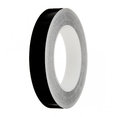 Black Gloss Colour Pin Stripe tapes, 50m roll, sticky self-adhesive, vinyl decal line tape