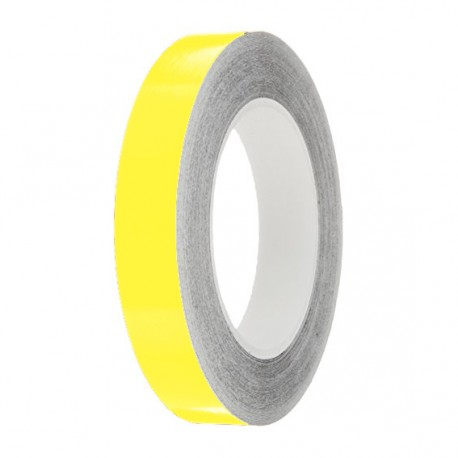 Lemon Gloss Colour Pin Stripe tapes, 50m roll, sticky self-adhesive, vinyl decal line tape