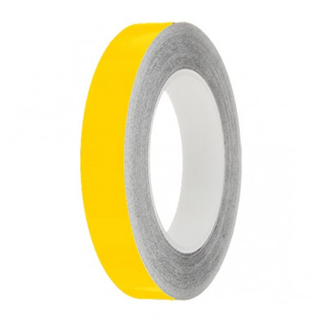 Bright Yellow Gloss Colour Pin Stripe tapes, 50m roll, sticky self-adhesive, vinyl decal line tape
