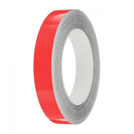 Medium Red Gloss Colour Pin Stripe tapes, 50m roll, sticky self-adhesive, vinyl decal line tape