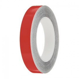 Flame Red Gloss Colour Pin Stripe tapes, 50m roll, sticky self-adhesive, vinyl decal line tape