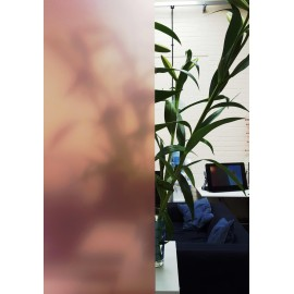 Pink Frosted Privacy Window Film / Frost Etched Glass / Sticky Back Plastic / Vinyl Covering / Pink Tint / sold per metre.