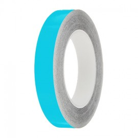 Pale Blue Gloss Colour Pin Stripe tapes, 50m roll, sticky self-adhesive, vinyl decal line tape