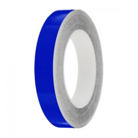 Mid Blue Gloss Colour Pin Stripe tapes, 50m roll, sticky self-adhesive, vinyl decal line tape