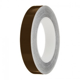 Brown Gloss Colour Pin Stripe tapes, 50m roll, sticky self-adhesive, vinyl decal line tape
