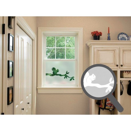 Squirrel Cut Out Bespoke Custom Frosted Window Film