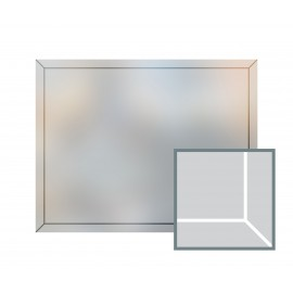 Bespoke window frame cut out, frosted, custom, decorative, home window film WF 08