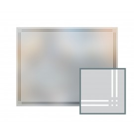 Bespoke window frame cut out, frosted, custom, decorative, home window film WF 10