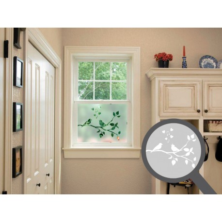 Singing birds cut out, bespoke, custom, frosted kitchen window film