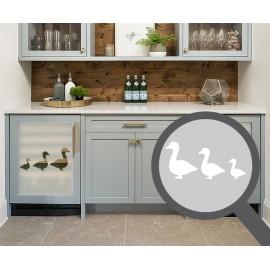 Ducks cut out, bespoke, custom, frosted kitchen window film