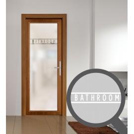 Bathroom cut out, bespoke, custom, frosted bathroom window film