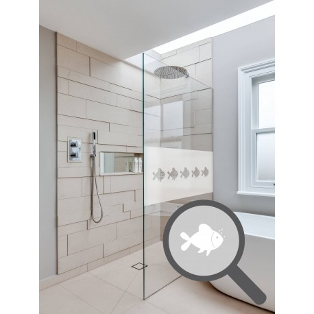 bespoke cut out fishes repeated pattern custom decorative frosted rh activewindowfilms co uk frosted bathroom window sticker frosted bathroom windows for sale