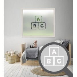ABC Cut Out Bespoke Custom Frosted Children Window Film A04