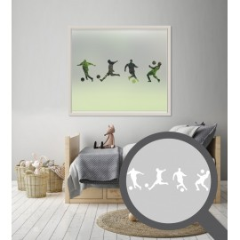Repeating football player cut out, bespoke, custom, frosted childrens window film