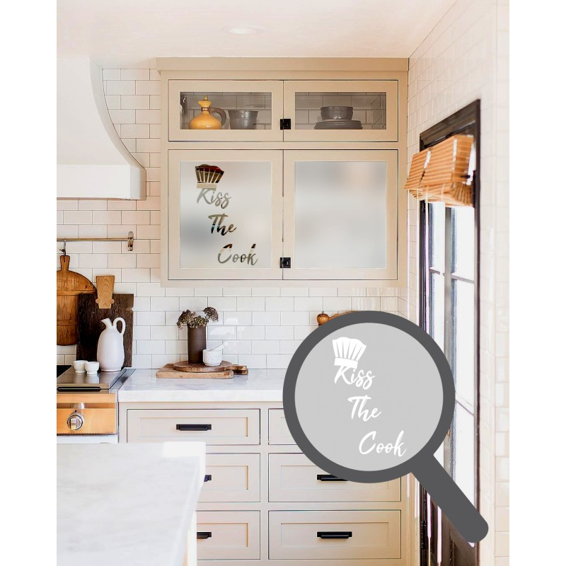 Kitchen Windows Boxed Out: Kiss The Cook Cut Out, Bespoke, Custom, Frosted Kitchen