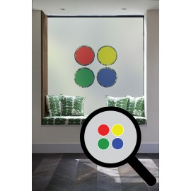 Multi Coloured Circles Cut Out Bespoke Custom Frosted Window Film