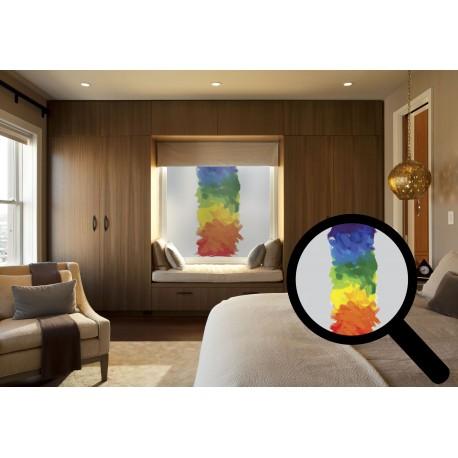 Multi Coloured Brush Stroke Bespoke Print Custom Frosted Window Film