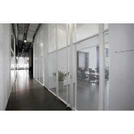 Silver Horizontal Lined Window Film - Caragh