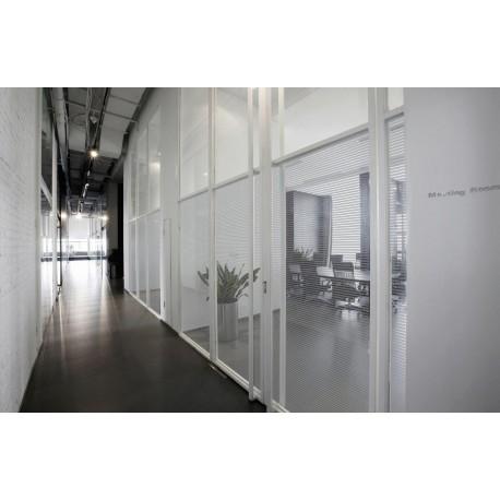Patterned Decorative Silver Window Film - Privacy Glass Film Silver Line Pattern