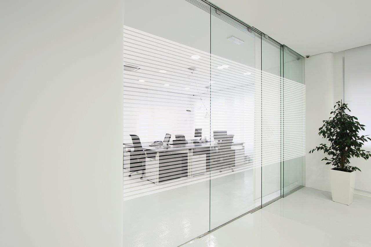 Frosted Glass Designs Patterned Decorative White Window Film Frosted Glass Film Line Pattern